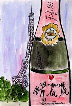 Ooh la la Eiffel Champagne