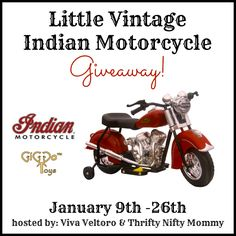 Little Vintage Indian Motorcycle Giveaway