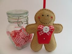 Felt Gingerbread Man Ornament - McPressie