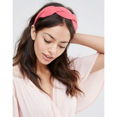 Johnny Loves Rosie Maya Coral Headband ($23) ❤ liked on Polyvore featuring accessories, hair accessories, pink, braided headband, head wrap headbands, braided headwrap, woven headbands and johnny loves rosie
