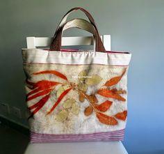 Terrie        ~.~  smiling.....: Eco print tote bag 植物印染袋子