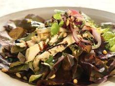 Mediterranean chicken salad with pine nuts