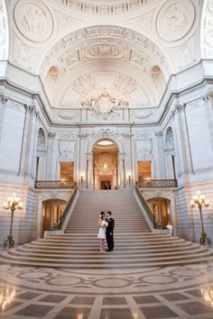 San Francisco City Hall Wedding photographed by Rebecca Wilkowski Photography. www.RebeccaWilkow...