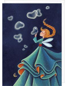 """Marie Cardouat carte double """"Les Bulles en Coeurs"""""""