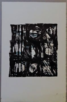 Vieira da Silva black & blue chaos lithograph and confusion Galerie D'art, French Artists, Surreal Art, Fine Art Gallery, Cool Artwork, Love Art, Decoration, Art Projects, Abstract Art