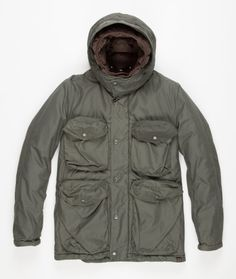 Taking inspiration from a Swiss military field jacket, the Multi-pocket Smock Jacket from Nemen...