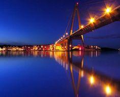 Stavanger, Norway Stavanger Norway, Western Coast, Norse Vikings, Golden Gate Bridge, Lighting Design, Places To Travel, Texas, Facebook, City