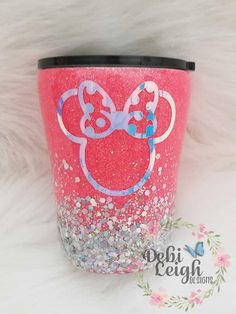 Stainless steel glittered 10 oz insulated tumbler with lid for coffee, small drinks, kids Vinyl Tumblers, Custom Tumblers, Glitter Cups, Glitter Tumblers, Potpourri, Tumblr Cup, Kids Tumbler, Disney Cups, Vases