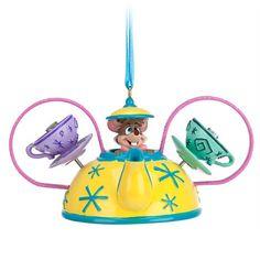 Disney Dormouse Mad Tea Party Ear Hat Ornament   Disney Store