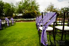 Outdoor wedding ceremony at McDowell Mountain Golf Club - Scottsdale, Arizona