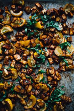Smokey Roasted Eggplant + Summer Squash with Millet Socca | Will Frolic For Food