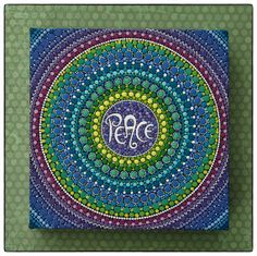 Original artwork by Elspeth McLean  PEACE Mandala by ElspethMcLean, $105.00
