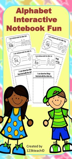 Start your students off with their first interactive notebook to learn letters and beginning sounds. Just two simple square shapes to cut and paste for each page for young students just learning to use scissors.  Grab this at a very low price.