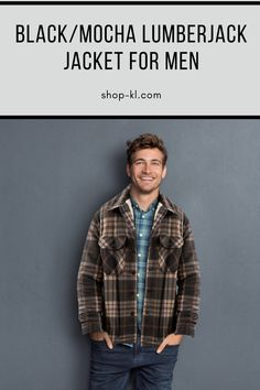 Looking for a versatile Lumber Jacket? Look no more! This Men´s plaid jacket is useful for everyday activities Our lumber jacket is great for chilled nights with the inner layer of fleece material, making it the ultimate buffalo jacket. Plaid Jacket, Shirt Jacket, Buffalo Jacket, Everyday Activities, Mocha, Two By Two, Man Shop, Mens Fashion, Clothing