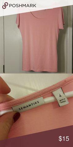 Light Pink Semantiks Shortsleeve Soft Medium Top Light Pink Semantiks Shortsleeve Soft Medium Top 25 inches long From Nordstrom Semantiks  Tops Tees - Short Sleeve