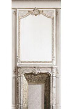 Trompe L'Oeil Velvet Wall Covering - Fireplace
