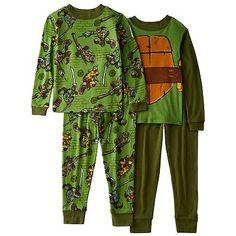 Teenage Mutant Ninja Turtles New Turtle Duds 4-Piece Pajama Set - Boys 4-10