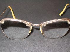 Vintage Shuron Metal Etched Eyeglasses