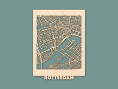 Citymap Rotterdam Berken (30×40) RENDER