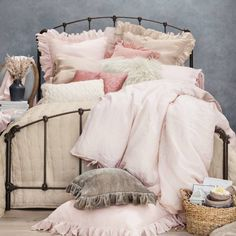 Product Image For Wamsutta Vintage Linen Duvet Cover 5 Out Of