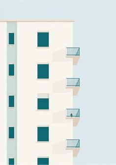 colorful architecture and minimal photography Minimal Photography, Art Photography, Flat Illustration, Digital Illustration, Graphic Art, Graphic Design, Architecture Drawings, Illustrations And Posters, Belle Photo