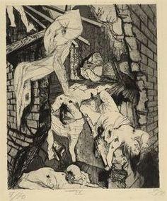 House Destroyed by Aerial Bombs (Tournai) [Durch Fliegerbomben zerstörtes Haus (Tournai)] 1924