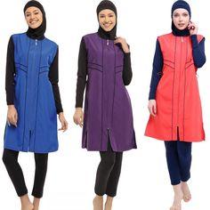 Muslim Hijab, Swimsuits, Swimwear, Islamic, Turkey, Plus Size, Free Shipping, Cover, Board