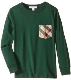 9705f5644 Burberry Kids - Checked Pocket Long Sleeve Top Boy's Long Sleeve Pullover  #ad