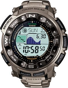 Introducing the new Pro Trek PRW2500, a high performance tool developed under the supervision of meteorologists to take on challenging environments. Like all triple sensor Pro Trek models, the PRW2500 features easy-one-tough operation of its Altimeter/Barometer, Compass and Thermometer