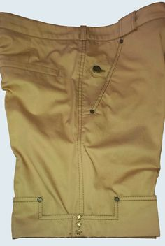 Men's Bermuda shorts by busurmanka LeniE'. Side view. Details : hinges are made…