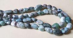 Larimar Gemstone nugget beads, length between 7 mm to 1.5 cm