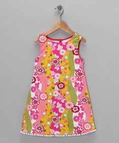 Take a look at this China Doll Pom-Pom Dress - Toddler & Girls by Jen Jen on #zulily today!
