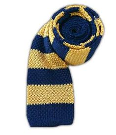 Knit Repp Stripe - Navy/Gold | Ties, Bow Ties, and Pocket Squares | The Tie Bar