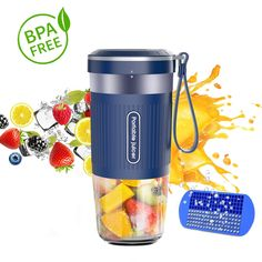 Portable Blender, Hosome Cordless Personal Blender Shakes and Smoothies, Single Serve Mini Mixer, USB Rechargeable Home Office Sports Travel Outdoors Travel Blender, Protein Shaker Bottle, Portable Blender, Blender Bottle, Smoothie Blender, Green Fruit, Specialty Appliances, Yummy Smoothies, Cooking Tools