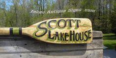 Personalized  Canoe Paddle sign original  by ZekesAntiqueSigns, $89.00