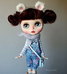 RESERVED Zoe custom ooak blythe doll unique art doll by AlmondDoll