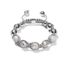 Shamballa white diamond bracelet