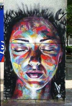 Street Art News: David Walker New Mural In Vitry, France
