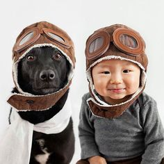 Les photos attendrissantes d'un bébé et d'un chien