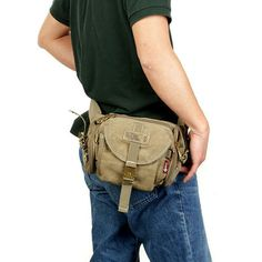 Tactical canvas travel security waist fanny pack bum bag 2013 Aerlis outdoor men small shoulder messenger bags Free shipping £15.85