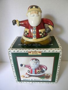 Debbie Mumm Short Stout Jolly Santa Tea Pot for Target Christmas Holiday | eBay