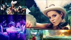 Collage of stills from Lindsey Stirling's new 'Hold my heart' video