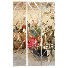 Three Mirrors Panels For Sale Modern Floor Mirrors, I Love Mirrors, Unique Mirrors, Full Length Floor Mirror, Mirror Panels, Mirrored Furniture, Home Accents, Mid-century Modern, 1970s