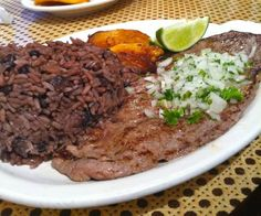 Look for the blackest beans and the thinnest palomilla steaks ... when in south Florida!