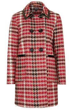 PETITE+Check+Coat