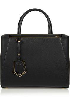 Fendi   2Jours small textured-leather shopper   NET-A-PORTER.COM