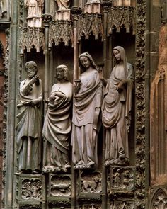 Christ and the Wise Virgins, 1277-1300, Gothic Sculptor, Stone, Cathedral, Strassbourg