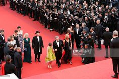 The cast of the movie 'The BFG' climbs the red carpet during 'The BFG (Le Bon Gros Geant - Le BGG)' premiere during the 69th annual Cannes Film Festival at the Palais des Festivals on May 14, 2016 in Cannes, France.  (Photo by Tristan Fewings/Getty Images)  Ruby is wearing a Green Silk Couture dress by Lazy Francis. www.lazyfrancis.com