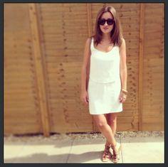 White Zara dress..  Missionstyleuk.blogspot.com
