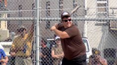 The Ferg at the plate during the softball tournament @ Longmire Days Buffalo, WY 2013.